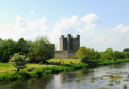 Trim Castle, Wide View with River Boyne.