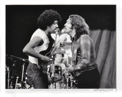 Phil Lynott and Rory Gallagher 1982