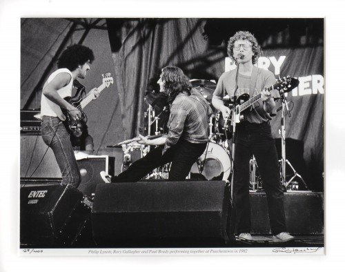 Phil Lynott Rory Gallagher and Paul Brady 1982