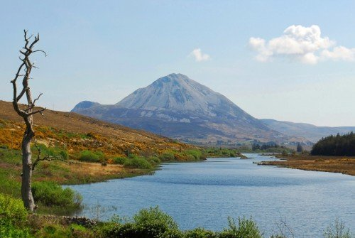 River running to Mount Errigal, Donegal