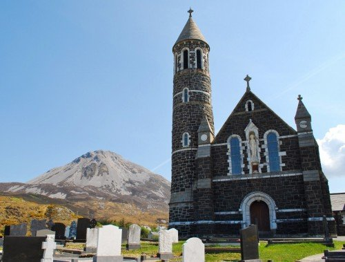 Church yard at foot of Mount Errigal, Donegal