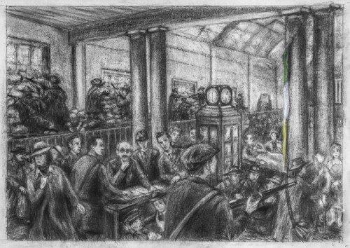 Inside GPO Dublin, Easter Week, 1916 Rising