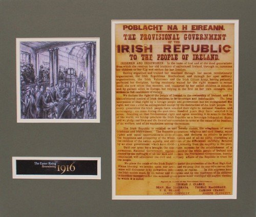 Mounted Ken Kearney Image with Proclamation 1916